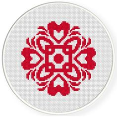 FREE for June 13th 2016 Only - Damask Design Pattern 01 Cross Stitch Pattern