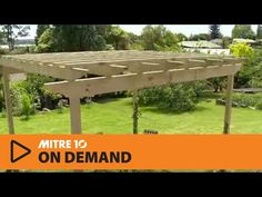 How to Build a Pergola | Mitre 10 Easy As - YouTube