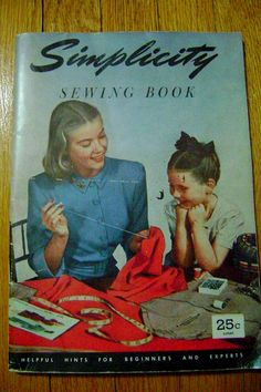 40's SIMPLICITY Sewing Book Magazine by PopcornVintageByTann, $14.00