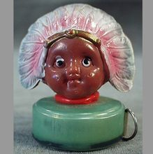 Old, Celluloid Figural Tape Measure - Little Indian Brave