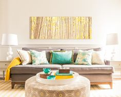House of Turquoise: Fia Interiors - turquoise + yellow