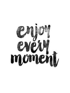 size: Giclee Print: Enjoy Every Moment by Brett Wilson : This exceptional art print was made using a sophisticated giclée printing process, which deliver pure, rich color and remarkable detail. Goal Quotes, Change Quotes, Words Quotes, Life Quotes, Motivational Quotes For Women, Positive Quotes, 3 Word Inspirational Quotes, Calligraphy Quotes, Short Quotes