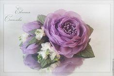 Купить Цветы в прическу Лиловые розы - свадебные аксессуары, для свадебной прически, handmade, украшения для волос