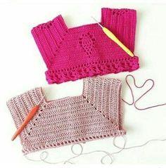 Best 12 Crochet bodice for a toddler dress tutorial – SkillOfKing. Crochet Yoke, Crochet Girls, Crochet Baby Clothes, Baby Blanket Crochet, Crochet For Kids, Crochet Bikini, Crochet Hats, Filet Crochet, Crochet Dress Girl