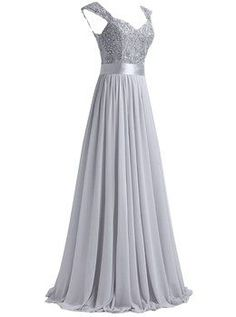 Viva la Women's Off The Shoulder A-Line Floor-Length Prom Dresses Tulle Chiffon Size 0 US Champagne
