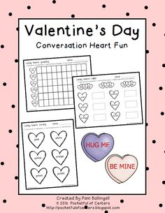 Valentine's Day Freebie! Fun activities to do using Conversation Hearts!