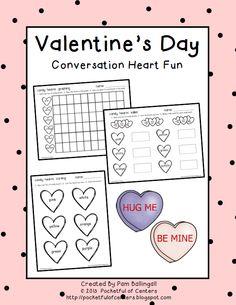 Valentine's Day Freebie! Fun activities to do using Conversation Hearts!