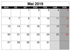 40 Best Kalender Mai 2019 images