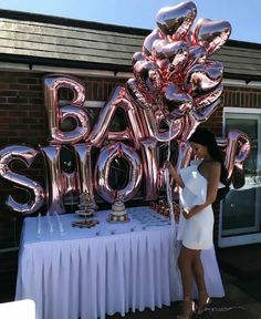 Baby shower shared by Esther on We Heart It Deco Baby Shower, Baby Shower Balloons, Shower Party, Baby Shower Parties, Baby Boy Shower, Girly Baby Shower Themes, Baby Shower Outfits, Best Baby Shower Games, Baby Shower Nails