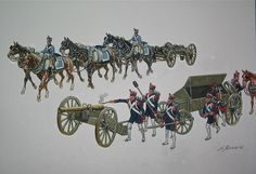 French Napoleonic artillery and artillery train