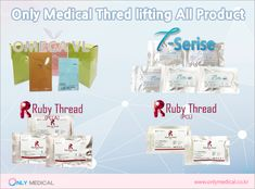 Only Medical Korea All Thread Lifting Products  ◈ Omega VL 1. Omega VL Original 2. Omega VL Original L-cannula 3. Omega VL Spike 4. Omega VL Spike L-cannula 5. Omega VL Little1,Little2,,Little3,Little4 6. Omega VL Cog Screw 7. Omega VL N1,N2, L-cannula(nose) 8. Omega VL M  ◈ T-Serise 1. T-MONO 2. T-SCREW 3. T-COG 4. T-COG L 5. T-COG NOSE  ◈ Ruby Thread (PLLA) 1. Ruby Mono Thread 2. Ruby Screw Thread 3. Ruby Cog Thread  ◈ Ruby Thread (PCL) 1. Ruby Cog Thread 2. Ruby Mono Thread Thread Lift, Omega, All Things, Medical, Products, Medicine, Med School, Gadget, Active Ingredient