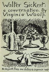 Virginia Woolf, Walter Sickert: A Conversation, London: The Hogarth Press, 1934. Cover  by Vanessa Bell.  #Bloomsbury