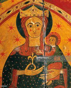 Romanesque Art little detail, bright colors,