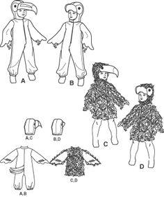 Ideas disfraz casero de loro, guacamayo o tucán con pequeña guia