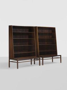 Hans Olsen. bookcases, pair. c. 1950, rosewood