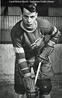 """RIP Gordon """"Gordie"""" Howe, OC (March 1928 – June was a Canadian professional ice hockey player. From 1946 to Nicknamed """"Mr. Ice Hockey Players, Nhl Players, Montreal Canadiens, Red Wings Hockey, Detroit Sports, Sports Figures, National Hockey League, Detroit Red Wings, Baseball"""