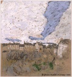 Edouard Vuillard La place Vintimille vers 1910 peinture à la colle rehaussée au pastel sur carton H. 0.5 ; L. 0.45 musée d'Orsay, Paris, France ©photo musée d'Orsay / rmn