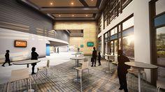 Conceptual Lobby Design for Ashley Ridge Church - Summerville, SC // Design and Rendering by Equip Studio (www.equipstudio.com)