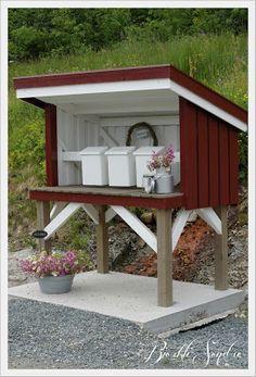 Bjørkli Søndre: Melkerampe til postkassestativ! Mailbox, Cottage, Outdoor Decor, Diy, Gardening, Home Decor, Mars, Terrace, Homemade Home Decor