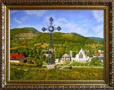 Wojcieszów, Krzyż Milenijny, 60cm x 80cm, Obraz olejny na płótnie