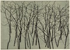woodblock prints of trees - Google Search