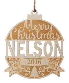 Look what I found on #zulily! 'Merry Christmas' Personalized Wood Ornament #zulilyfinds