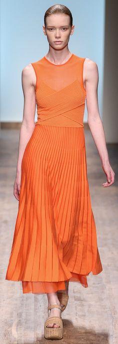 Salvatore Ferragamo ~ Spring Sleeveless Orange Maxi Dress 2015