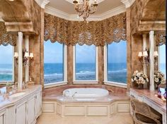 Your luxury real estate destination. Browse & search all the latest million dollar home listings & mansions for sale. Dream Bathrooms, Beautiful Bathrooms, Tuscan Bathroom Decor, Dream Home Design, House Design, Bathroom Design Luxury, House Goals, Estate Homes, Luxury Real Estate