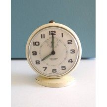 ancien r veil jaz m canique d co vintage ann e 50 french antique clock r veil m canique tout. Black Bedroom Furniture Sets. Home Design Ideas
