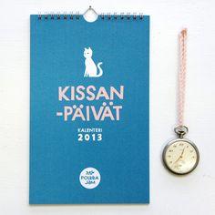 Kissanpäivät calendar 2013 by Polkka Jam.