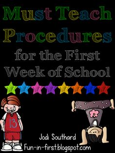 Great list of Back to School Procedures {FREE download}