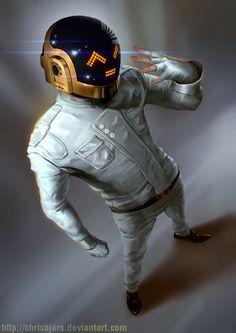 ArtStation - Daft Punk, Chris Bjors