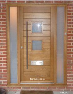Contemporary Front Doors, oak iroko and other woods, Bespoke Doors Contemporary Front Doors, Contemporary Doors, Contemporary Style, Oak Doors, Entrance Doors, Wooden Doors, Bungalow Extensions, Main Door, Door Design