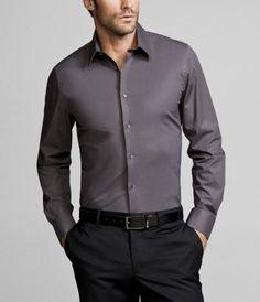 Groom & Groomsmen attire. Either groom in grey and his men in plum or groom in plum and his men in grey! :)
