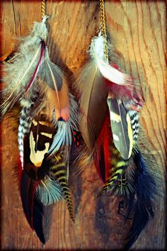 Natural Long Feather Chain Earrings12 inches by Cloud9Jewels, $40.00
