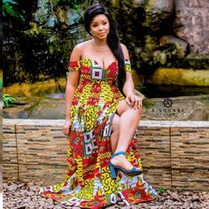 Pulchritudinous Ankara Gowns to Rock - Ani Exclusive African Evening Dresses, African Print Dresses, African Print Fashion, African Wear, African Fashion Dresses, African Women, African Dress, Fashion Outfits, Ankara Fashion