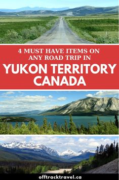 If you're planning a road trip around Canada's amazing Yukon Territory, there are a few must-have items will greatly improve your experience. Be sure not to forget any of these before heading out! Cool Places To Visit, Places To Travel, Travel Destinations, Backpacking Canada, Alberta Travel, Yukon Territory, Canadian Travel, Visit Canada, Road Trip Essentials