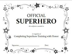 Award Certificate Template Free Lovely Superhero Squad Party Activities A Little Tipsy Superhero Birthday Party, Boy Birthday, Birthday Parties, Batman Party, Birthday Ideas, Ironman Birthday, Disney Fantasy, Super Hero Training, Super Hero Day
