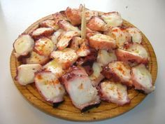 Pulpo a la gallega: Galician octopus cooked in oil, sprinkled with paprika. So simple and SO delicious!