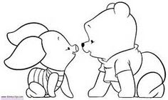 Baby Pooh Coloring Pages page 2 - Disney Winnie the Pooh, Tigger