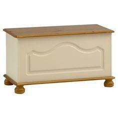 Steens Richmond Cream & Pine Ottoman / Blanket Box / Storage Chest