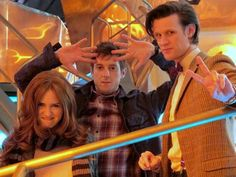 Karen Gillan, Arthur Darvill and Matt Smith