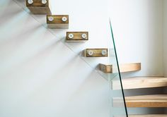 Floating solid wood, steel and glass stairs by Culmax House Staircase, Staircase Design, Staircases, Staircase Manufacturers, Window Company, Glass Stairs, British Home, Malm, Concrete Floors