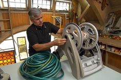 Five nifty uses for an old hose reel.