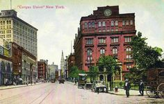 """archimaps: """" The Cooper Union at Cooper Square, New York City """" Architecture Mapping, New Amsterdam, Vintage New York, Lower East Side, Long Island City, East Village, Historical Society, Color Photography, All Art"""