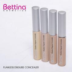 Los correctores también son parte de nuestra línea de cosméticos. Flawless Disguise #Concealer, disponible en 4 tonalidades. Makeup Foundation, Concealer, Lipstick, Cosmetics, Face, Beauty, Parts Of The Mass, Budget, Foundation