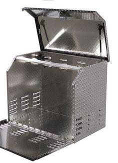 Heavy Duty Truck, Trailer, RV Diamond Tread Aluminum Generator Box - WorkTrucksUSA