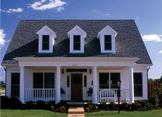 Acadian Plan Front of Home 055D-0309 | House Plans and More from houseplansandmore.com