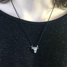 Taurus Bull Necklace – Silver Animal Jewelry #taurusnecklace #bullnecklace #tauruspendant #bullpendant #taurusjewelry #bulljewelry #tauruszodiac #silvertaurusnecklace #silverbullnecklace