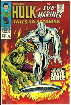 Tales To Astonish #93 - Hulk and The Silver Surfer by Marie Severin